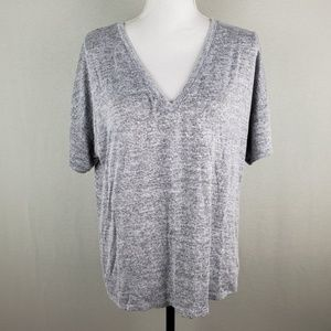 A New Day V Neck Short Sleeve Hi Low Top XXL